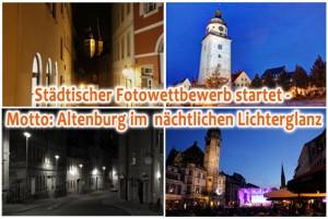Städtischer Fotowettbewerb startet - Motto: Altenburg im  nächtlichen Lichterglanz (Foto: der uNi)
