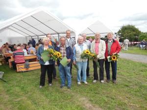 Ehrenmedaillen für 5 Gartenfreunde für ihre ehrenamtliche Tätigkeit in den Gartenanlagen. (Foto: Klaus Engelmann)