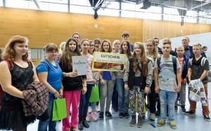 Die Gewinner des Tageswettbewerbes am Nachmittag – die Klasse 8b der Dietrich-Bonhoeffer-Schule (Foto: Verlagsgruppe Kamprad)