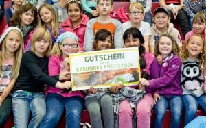 Die Gewinner des Tageswettbewerbes am Vormittag – die Klasse 4a der Wilhelm-Busch-Schule (Foto: Verlagsgruppe Kamprad)