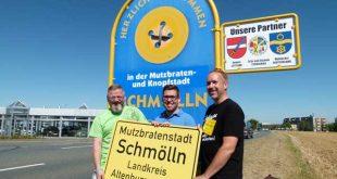 Besucher werden in der Mutzbraten- und Knopfstadt willkommen geheißen. (Foto: J. Hiller, Stadtverwaltung Schmölln)