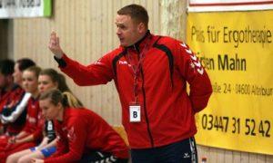 Ronny Baerbig Cheftrainer der Frauenmannschaft des SV Aufbau Altenburg im Handball (Foto: Wolfgang Wukasch)