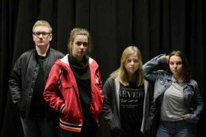 Bande: v.l.n.r. Thomas Erdinger, Johanna Künzel, Evelyn Moos, Felicia Descher (Foto: JugendTheARTerWelt e. V.)