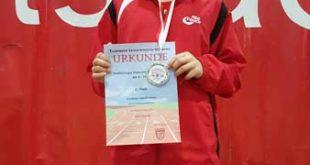 Lennox Heilmann mit einem sehr guten 2.Platz bei den Ostthüringer Hallenmeisterschaften im Mehrkampf (Foto: Jan Heilmann)