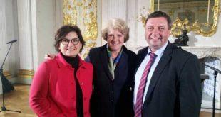 DNK-Präsidiumsmitglied Volkmar Vogel MdB bei der Aufrufveranstaltung gemeinsam mit Staatskulturministerin Monika Grütters (Mi.) und Ute Bertram MdB aus dem Ausschuss für Kultur und Medien. (Foto: Volkmar Vogel, MdB)