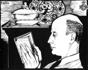 Im Chaos unserer Zeit - Menschen im Werk von Conrad Felixmüller - Bildnis Hanns-Conon von der Gabelentz, 1934, Holzschnitt (Foto: Lindenau-Museum Altenburg und VG Bildkunst Bonn 2017)