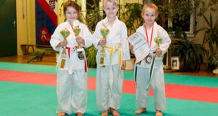 Karate-Krümel Alexander Henze (Bildmitte) wird erfolgreichster Teilnehmer (Foto: Sakura Meuselwitz)