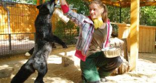 Zu Alina Löschners Aufgaben gehört das Füttern der Tiere. (Foto: Ronny Seifarth)