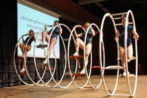 Der Turn- und Sportverein Friesen präsentierte sich mit den Röhnrädern (Foto: Ronny Seifarth)