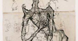 Ecce Homo - Sterbender Krieger, 1949, Kreide und Graphit auf Papier, (Foto: Sinterhauf, Berlin,©Stiftung Gerhard Altenbourg und VG Bild-Kunst, Bonn, 2018)
