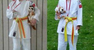 Judo - Landesmeisterschaft Titel für den JSV Rositz links Lara, rechts Nele (Foto privat)