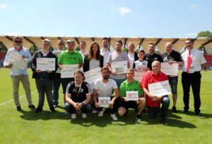 Auszeichnung mit Herr Etzold (Foto: Thüringer Fußballverband)