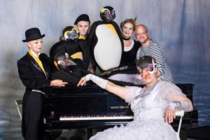 v.l.n.r.: Marcella von Jan, Lutz Großmann, Sabine Schramm, Regisseur Tim Heilmann, vorn Lys Schubert (Foto: Sabina Sabovic)