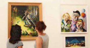Neue Galerie im Rathaus - Malerische Landschaften (Foto: Silke Arnold)