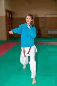 Talina Titz beim Sports Karate Camp in Dänemark (Foto: Sakura Meuselwitz)
