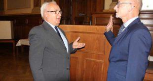 Landrat Uwe Melzer wurde vereidigt (Foto: Landratsamt)