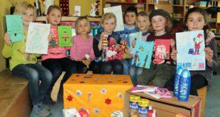 Känguru Schule unterstützt die Johanniter-Weihnachtstrucker 2018 (Foto: Franziska Reise)