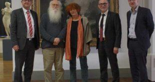 v. l. n. r.: Bernd Wannenwetsch, herman de vries mit Ehefrau Susanne, Uwe Melzer, Dr. Roland Krischke (Foto: Lindenau-Museum Altenburg)