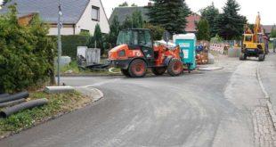 Die Arbeiten im unteren Abschnitt des Grüntaler Wegs sind weitgehend abgeschlossen. (Foto: Ronny Seifarth)