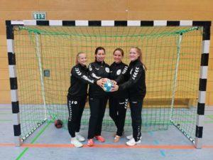 vlnr: Ellen Wachler, Nadine Zimmermann, Eileen Herziger, Jana Kühnel (Foto: SV Aufbau Altenburg)