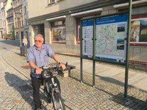 Radwegewart Steffen Gehrt (Foto: Tourismusverband Altenburger Land e.V., Jeannette Kreyßel)