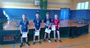 Jungen 13 Einzel v.l.n.r.: Genti Ymeraj, Aaron Fischer, Ben Müller, Nico Arndt (Foto: KTTV Altenburg)