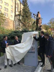 Zwei interaktive Informationsstelen wurden am Schlosspark eingeweiht (Foto: Residenzschloss Altenburg)