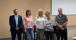 Der Vereinsvorstand Frank Wunderlich, Diane Leithold, Gabi Riebel, Ulrike Sießmeir, Matthias Itzerott (v.l.) (Foto: Julian Degner)