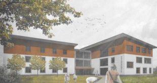 Entwurf zum sanierten Haus 3 mit Neubau der Grundschule Nobitz.