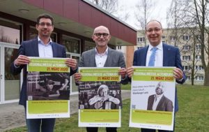 von links: Oberbürgermeister André Neumann, Landrat Uwe Melzer, Michael Apel (Fachdienstleiter Wirtschaft, Tourismus und Kultur im Landratsamt Altenburger Land) (Foto: Stadt/Landratsamt)
