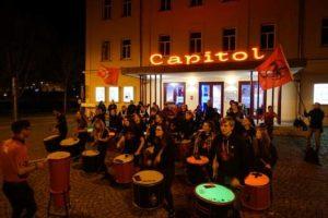 10 Jahre Como Vento auf der großen Leinwand (Foto: Janek Rochner-Günther)