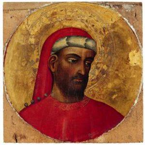 Heiliger Kosmas. Um 1430 - Tempera auf Pappelholz (Foto: Lindenau-Museum)