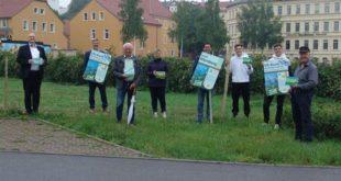 Blühstreifen am Wohnmobilstellplatz wurde eingeweiht (Foto: Stadtverwaltung Altenburg)