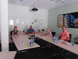 Mitglieder der CDU Stadtratsfraktion im Gespräch mit Mitarbeitern der SWG (Foto: Stadtratsfraktion)