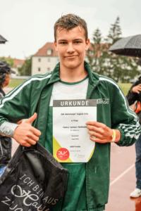 Henry Lennox Heilmann stark bei seinem erstem nationalen Neunkampf in Halle (Foto: Andreas Prautsch)