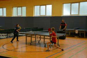 Jungen 13 Einzel Finale: Pepe Hübner (SV Aufbau Altenburg) gegen Jannis Kittel (TSV 1876 Nobitz) (Foto: KTTV Altenburg)