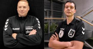 Die Cheftrainern der Frauen- sowie Männermannschaften des SV Aufbau Altenburg, Ronny Bärbig und Oliver Schörnig. (Foto: SV Aufbau Altenburg)