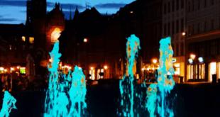 Wasserspiel auf dem Marktplatz in Altenburg (Foto: der uNi)